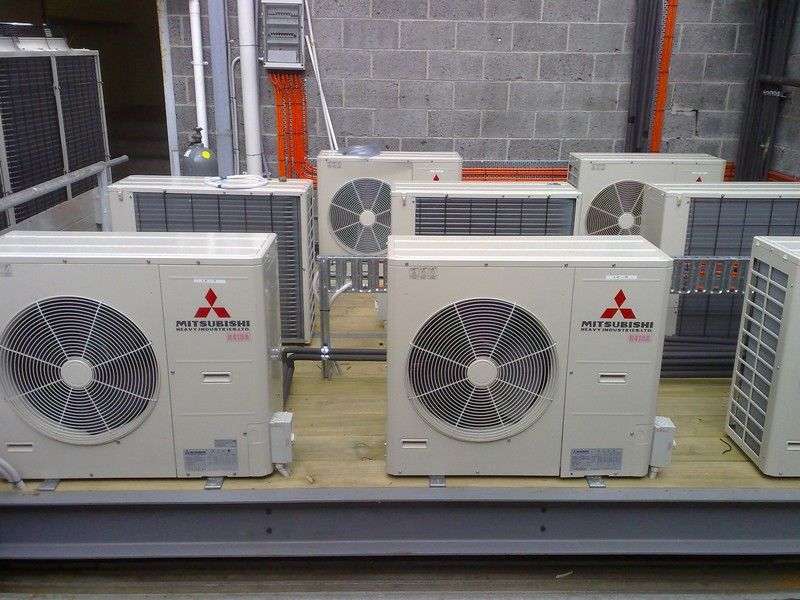 Mitsubishi air conditioning installation in Heidelberg